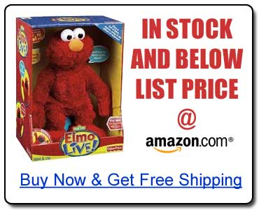 Find Elmo Live in stock now